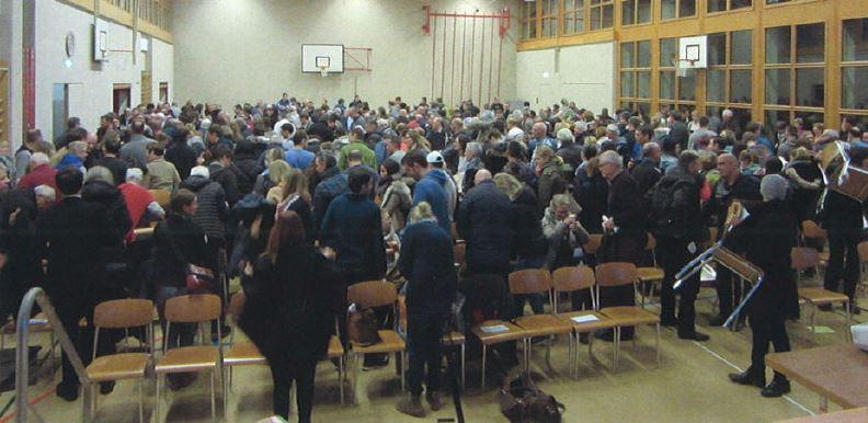 Überwältigende Mehrheit stimmt für neue Halle