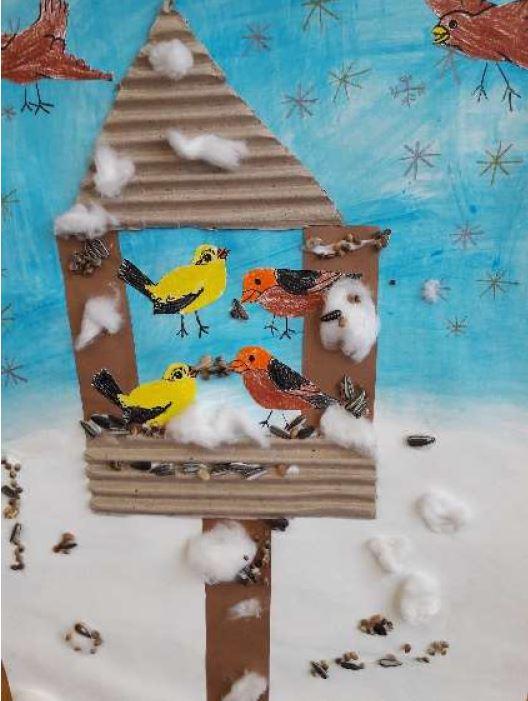 12: Vogelhäuschen – Beitrag der 1.Klasse